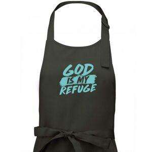 GOD IS MY REFUGE - Zástěra klasická