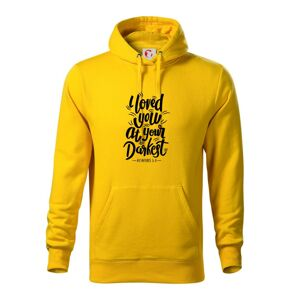I loved you at your darkest - Mikina s kapucí hooded sweater