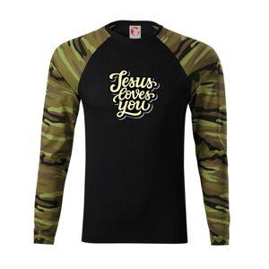 Jesus loves you - psací písmo - Camouflage LS