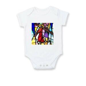 Vitráž - ježíš a kříž - Body kojenecké