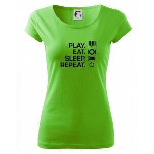 Play eat sleep piano - Pure dámské triko