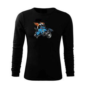 Motorkář vlk - Triko s dlouhým rukávem FIT-T long sleeve