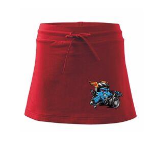 Motorkář vlk - Sportovní sukně - two in one