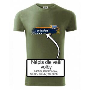 Stavba - vlastní nápis - náklaďák - Viper FIT pánské triko
