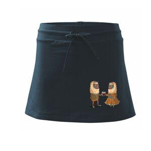 Alpaky s vínem pár - Sportovní sukně - two in one