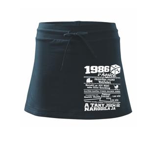 1986 v kostce - Sportovní sukně - two in one