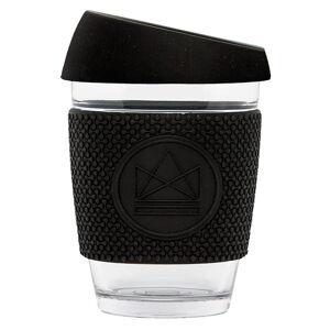 Skleněný hrnek na kávu, 340 ml, Neon Kactus, černý