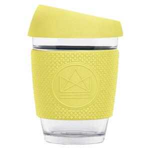 Skleněný hrnek na kávu, 340 ml, Neon Kactus, žlutý