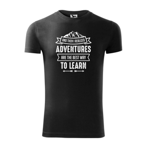 Adventure are best way to learn - Replay FIT pánské triko