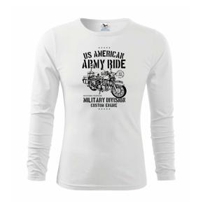 Army Ride Motorcycle - Triko dětské Long Sleeve