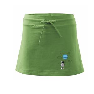 Astronaut s balónkem - Sportovní sukně - two in one