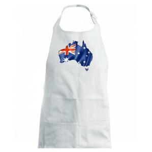 Austrálie - vlajka vlající mapa - Dětská zástěra na vaření