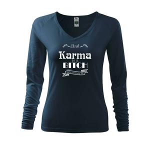 Bad Karma is a Bitch - Triko dámské Elegance