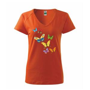 Barevní motýli - Tričko dámské Dream