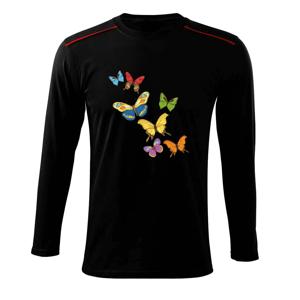 Barevní motýli - Triko s dlouhým rukávem Long Sleeve