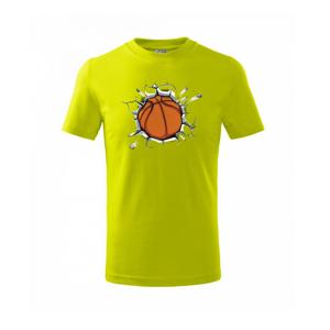 Basketbal míč v triku - Triko dětské basic