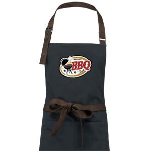 BBQ logo - Zástěra Vintage
