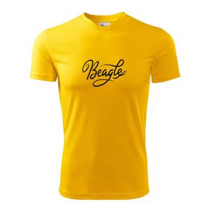 Beagle - nápis okrasný - Dětské triko Fantasy sportovní (dresovina)