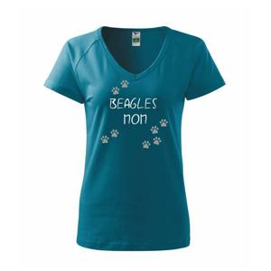 Beagles mom (Bígl) (Reflexní tlapky) - Tričko dámské Dream