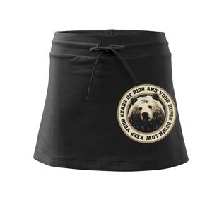 Bear headsup - Sportovní sukně - two in one