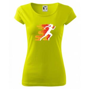 Běhání - oranžová žena - Pure dámské triko