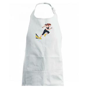 Běhání - žena startuje - Zástěra na vaření