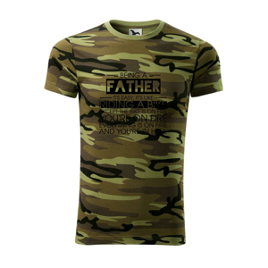 Being a father - bike - Army CAMOUFLAGE