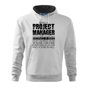 Being A Project Manager - bike - Mikina s kapucí hooded sweater
