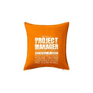 Being A Project Manager - bike - Polštář 50x50