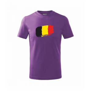 Belgie vlajka - Triko dětské basic
