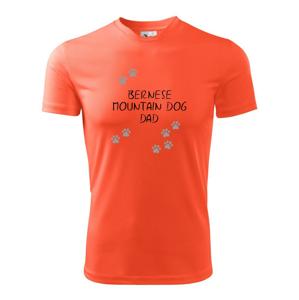 Bernese Mountain Dog dad  (Bernský salašnický pes) (Reflexní tlapky) - Dětské triko Fantasy sportovní (dresovina)