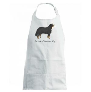 Bernese mountain dog kreslený - Dětská zástěra na vaření