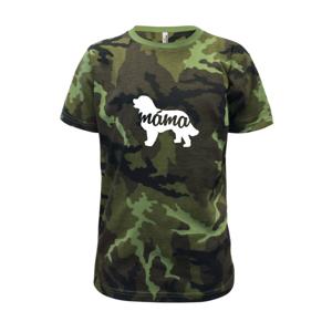 Bernský salašnický pes máma obrys - Dětské maskáčové triko