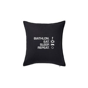 Biathlon Eat Sleep Repeat - Polštář 50x50