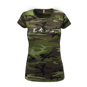 Biathlon - ikonky - Dámské maskáčové triko