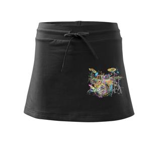 Bicí barevné splash - Sportovní sukně - two in one