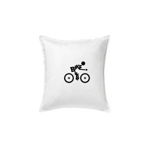 Bike nápis postava - Polštář 50x50
