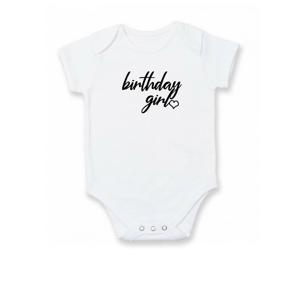 Birthday girl psací - Body kojenecké
