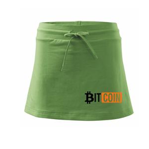 Bitcoin nápis - Sportovní sukně - two in one