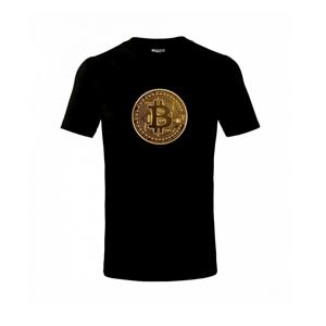Bitcoin zlatá mince kulatá - Triko dětské basic