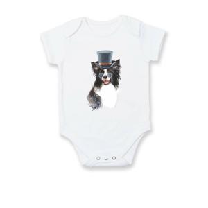 Border kolie v klobouku - Body kojenecké