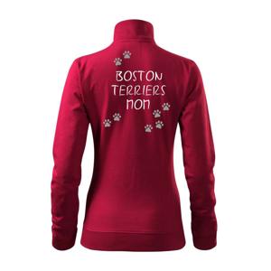 Boston Teriers mom Bostonský teriér (reflexní tlapky) - Mikina dámská Viva bez kapuce