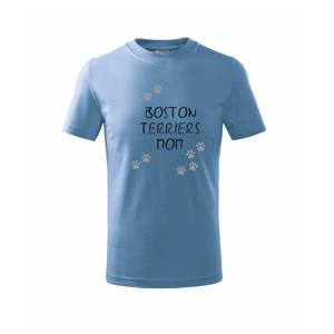 Boston Teriers mom Bostonský teriér (reflexní tlapky) - Triko dětské basic