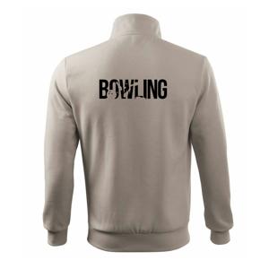 Bowling nápis kuželky - Mikina bez kapuce Adventure