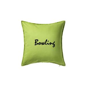 Bowling nápis psací - Polštář 50x50