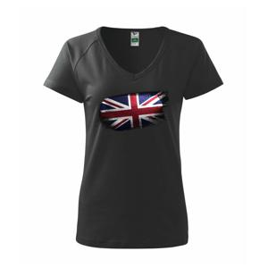 Britská vlajka okousaná - Tričko dámské Dream