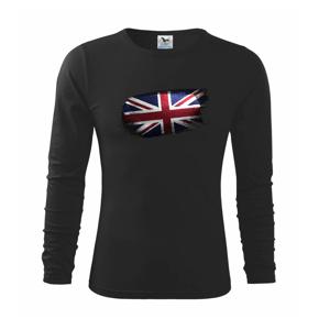 Britská vlajka okousaná - Triko dětské Long Sleeve