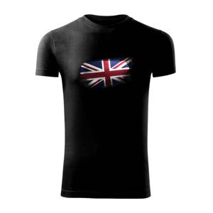 Britská vlajka okousaná - Viper FIT pánské triko