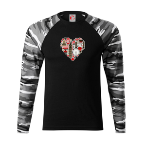 Britské srdce - Camouflage LS