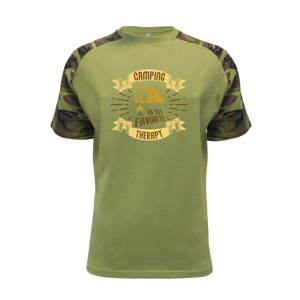 Camping is my favorite therapy - Raglan Military